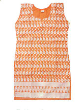 IndiaPehnava Cotton lucknowi embroidered short Kurtis-size S