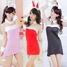 Hot Sexy Super Cute Bunny Girl Lingerie Role Play Costume Christmas Dress Skirt