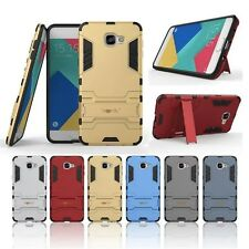 Heartly Hybrid Flip Kick Stand Armor Back Case Cover For Samsung Galaxy A9 Pro
