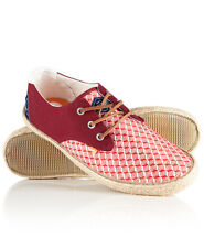Superdry Hombre Zapatos Skipper Rot Woven