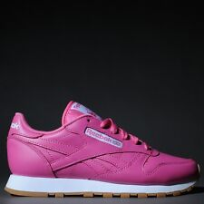 15197082eb3 Women s Reebok Classic Leather Sneakers Gum Sole Pink White Gum AR2356
