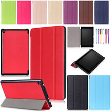 2017 Silicone/Leather/Tri-Fold Tablet Protect Cover For Amazon Fire 7/HD 8/ HD10