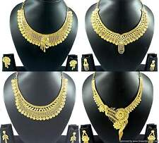 Gold Plated Necklace Earrings Jewelry sets Beautiful Bridal Designer Jewellery
