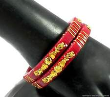 Pola Red Ethnic Jewelry Gold Plated Bracelets Bangles Indian Fashion Jewelry