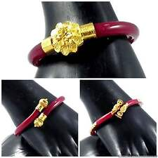 Gold Plated Red Pola Bangles Bracelets Beautiful Bollywood Design Indian Jewelry