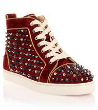 Christian Louboutin Louis Studded suede high-top sneakers Trainers BNIB 3.5 36.5