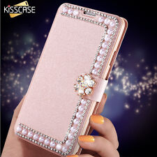 Glitter Pearl Flip Case For Samsung S8 / Plus, S7 / Edge, S6 Edge / Plus, S6