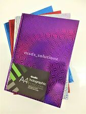 A4 HOLOGRAPHIC HARDBACK WRITING LINED NOTEBOOK 60SHEETS/120SIDES NOTEPAD/COPY