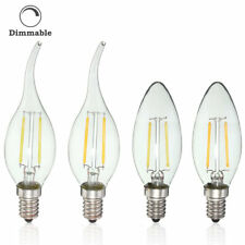 Dimmable E14 2W Retro Edison COB Filament Bulb LED Light Candle Lamp Bulb AC220V