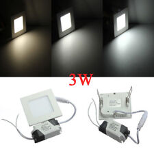 3W Square Ceiling Panel White/Warm White LED Lighting AC 85-265V