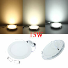 15W Round Ceiling Ultrathin Panel LED Lamp Downlight Light 85-265V