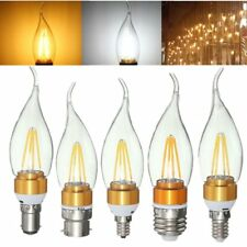 E27 E14 E12 B22 B15 4W Glod Pull Tail Incandescent Candle Light Bulb Non-Dimmabl