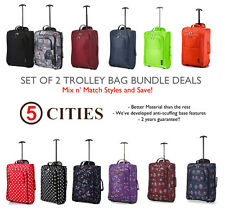 Set da 2/Singolo Easyjet Ryanair Carry On Trolley Borsa Per Bagaglio A Mano