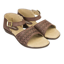 Kraftiehand Women's Casual Brown Sandal (KFT-1122-Sandal-Brown)