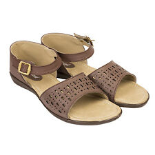 Kraftiehand Women's Casual Brown Sandal (KFT-1123-Sandal-Brown)