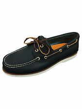 Mens Size UK 11 / EUR 45 Timberland CLS2I Lace Up Leather Boat Shoes Navy Blue