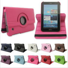 """360° Rotating PU Leather flip case cover for Samsung Galaxy Tab 2 P3100 P5100 7"""""""