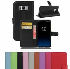 PU Leather Flip Wallet Book Case Cover Pouch For Samsung Galaxy S7 Edge S8 Plus
