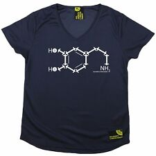 Women Sex Weights and Protein Shakes Gym Chemical Dry Fit Sports V- NECK T-SHIRT