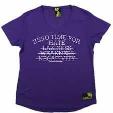 Women Sex Weights and Protein Shakes No Time For Dry Fit Sports V- NECK T-SHIRT