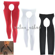 Sexy Crotchless Mesh's Open Crotch Tight Pants Men Underwear Lingerie Bdsm Thong