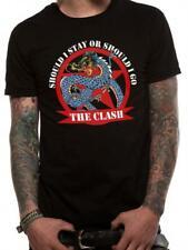 OFFICIAL LICENSED - THE CLASH - SHOULD I STAY DRAGON T SHIRT - PUNK ROCK NEW