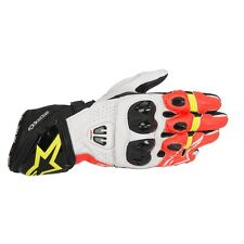 ALPINESTARS GP PRO R2 Black/White/Fluo Red Motorbike Leather Racing Gloves S-3XL