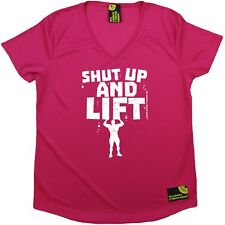 SWPS - Shut Up And Lift - Premium Dry Fit Breathable Sports V- NECK T-SHIRT