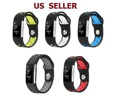 US SHIP Replacement Silicone Sports Strap Wrist band Bracelet For Fitbit Charge2
