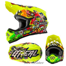 O'NEAL 3Series CRANK NEON Casco da CROSS MX motocross enduro bmx dh QUAD MTB