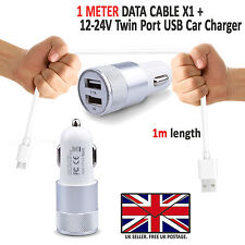 ALCATEL A5 LED - In Car Fast Dual Charger PLUS Micro USB Charging Cable