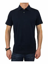 Sunspel Jersey Loop Polo Shirt in Navy Blue Size Medium