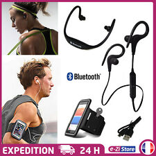 PACK RUNNING SPORT BRASSARD IPHONE + ÉCOUTEURS CASQUE BLUETOOTH SANS FIL S9 BT-1