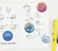Kawaii Japanese Cute Solar System Memo Pad Post It Note Sticky Notes