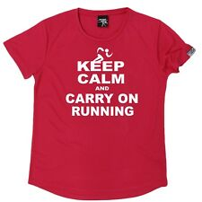Personal Best - Keep Calm And Run - Dry Fit Breathable Sports Round-Neck T-SHIRT