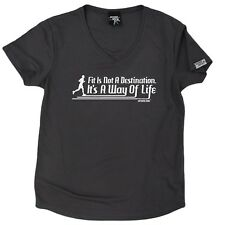 PB - Fit Is Not A Destination - Dry Fit Breathable Sport V- NECK T-SHIRT