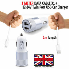 ALCATEL PIXI 4 (5.0) - In Car Fast Dual Charger PLUS Micro USB Charging Cable