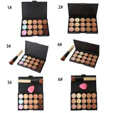 15 Color Beauty Concealer Palette Contour + Sponge Puff Powder Brush Makeup Tool