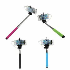 Selfie Stick Monopod Adjustable Holder & Wired Aux Cable For Mobiles And Cameras