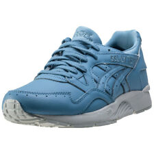 Asics Onitsuka Tiger Gel-lyte V Mens Blue Leather Casual Trainers Lace-up