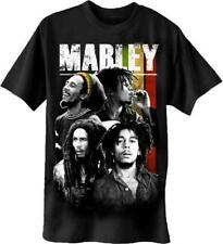 OFFICIAL LICENSED - BOB MARLEY - MARLEY COLLAGE T SHIRT - REGGAE RASTA NATTY