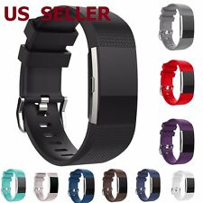 Replacement Luxury Silicone Watch Band Wrist Strap For Fitbit Charge 2 Bracelet