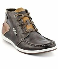 Lee Cooper Brown Leather Casual Sneakers