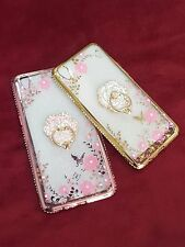 Secret Garden Flowers Diamond withRing Stand Soft Back Cover For Oppo R9,R9 Plus