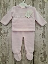 Spanish Style Beautiful Baby Girl Pink Knitted 2 Piece Top & Leggings Set