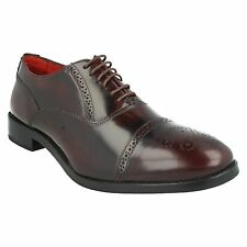 Base London para hombre Noel Cordones Alto Brillo Zapatos Oxford