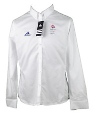Rio 2016 Official Olympic Womens White Adidas Team GB Formal Blouse/Shirt 8 - 16