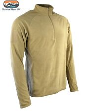 ALPHA Coyote Tactical Mid-Layer Fleece Thermal Layer Airsoft Army Military