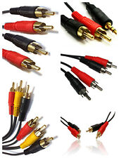 2 / 3 x RCA Triple / Twin Phono Male / Female  Audio Video Cable Lead / Jack /