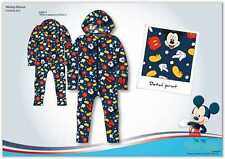 OFFICIAL DISNEY MICKEY MOUSE CHARACTER FLEECE ALL IN ONE PYJAMAS - SLEEPSUIT